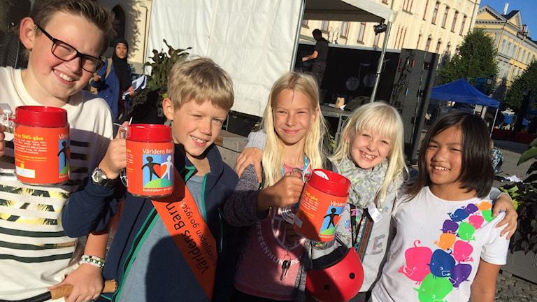 Barn i Örebro som deltar i Klasskampen i länet