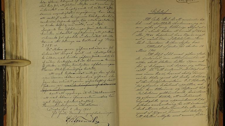 Gåfvobref anno 1901