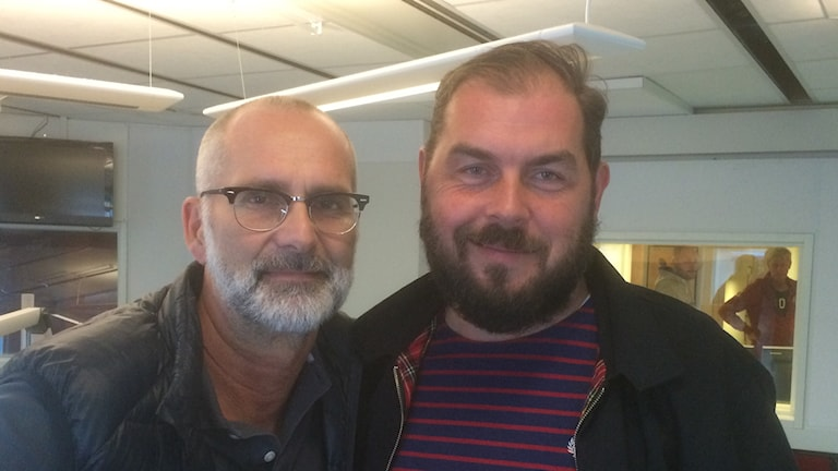 Arne Holmberg mötte Alexander Axén. Foto: Marie Hansson/SR.