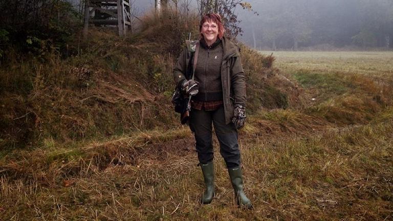Karin Bergsten, jägare och engagerad i Jaqt. Foto: Frida Geisler/Sveriges Radio.