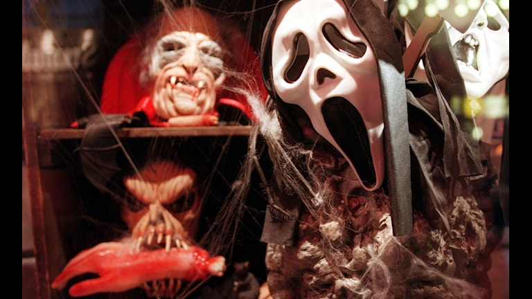 Halloweenmasker. Foto: Mark Earthy/TT