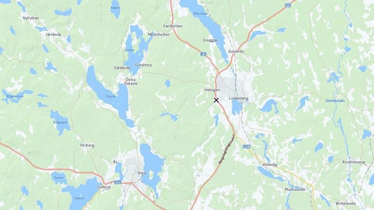 Trafikolycka Lindesberg CartoDB