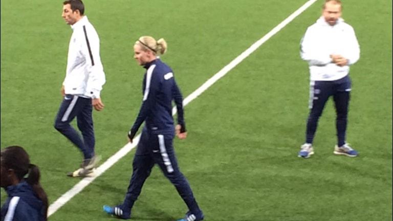 Lisa Dahlkvist tränade med PSG