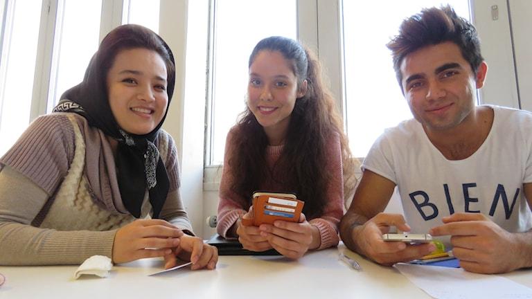 Tre afghaner studiehandledning Almby skola