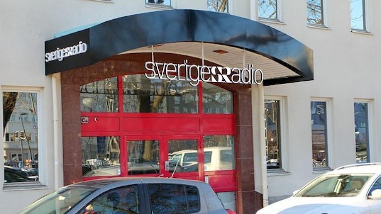 Ingången till Sveriges Radio Örebro