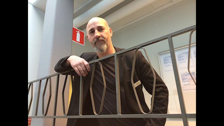 Johan Rapp, rektor Internationalla englska skolan i Örebro. Foto: Andreas Morén/Sveriges Radio.