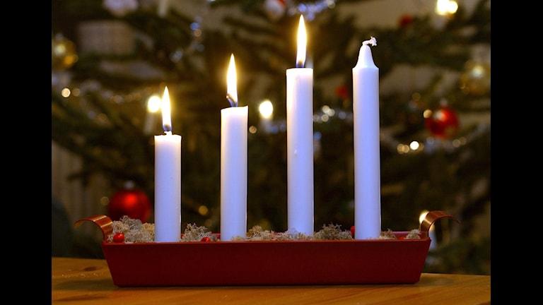 tredje advent ljus