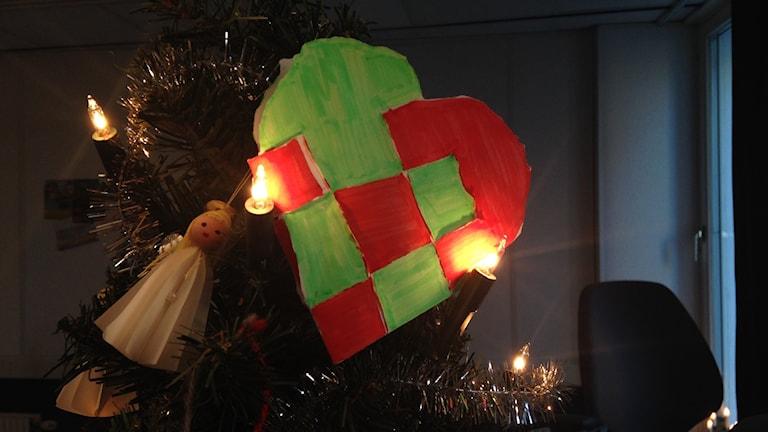 Katarinas familj firar en annorlunda jul, tillsammans. Foto: Frida Geisler/Sveriges Radio