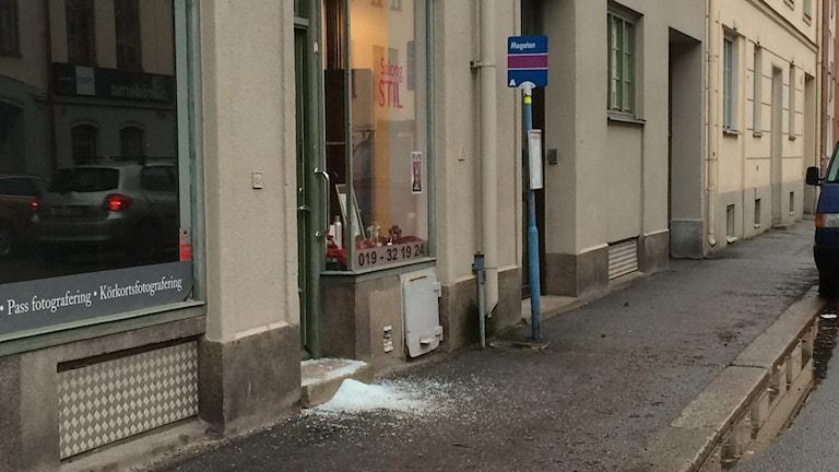Inbrott på Engelbrektsgatan i Örebro. Foto: Jan Larsson