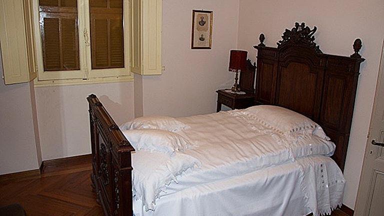 Sängen där Alfred Nobel lär ha dött på natten till den 10 december 1896