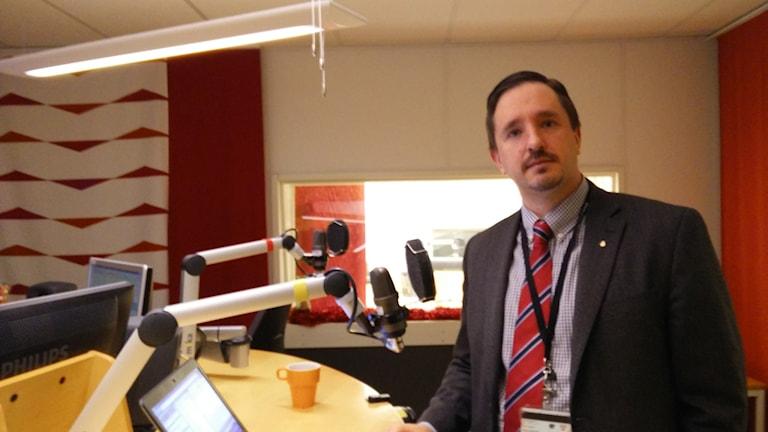 Olov Augrell, personalchef för polisen Bergslagen. Foto: Jens Tisbo/ Sveriges Radio