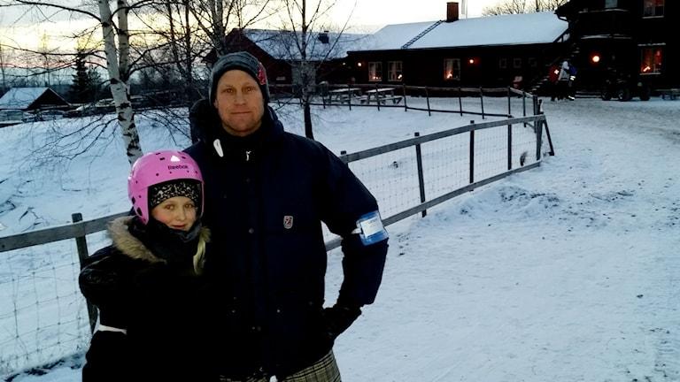 Gillersklack skidåkning Henrik Pantzar och Tingla Krus