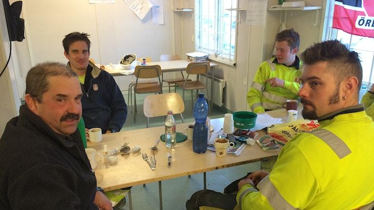 Erik Angelsten, Emil Achren, Robert Gustafsson och Rikard Granstedt.