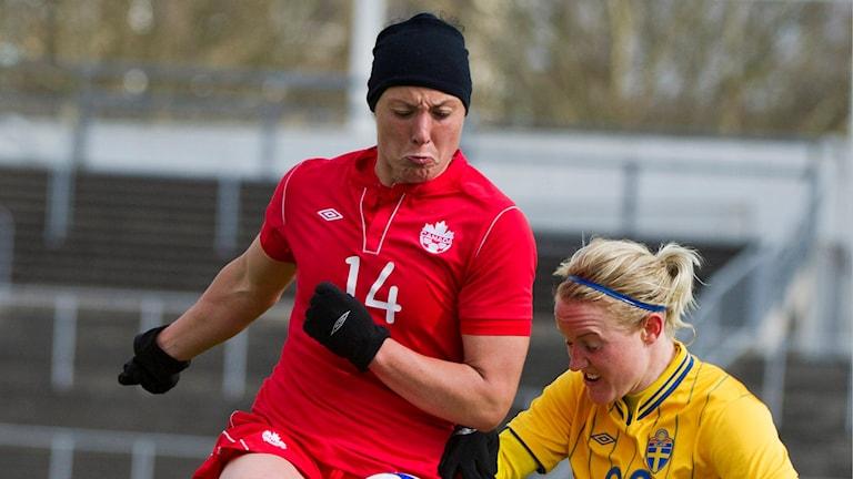 Kanadas Melissa Tancredi mot Sveriges Marie Hammarström.