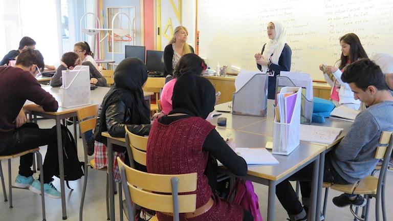 Redovisning, klassrum, Almby skola, Internationella gruppen