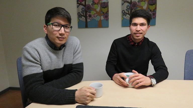 Mohsen Nazari och Omid Rezai från Afghanistan.