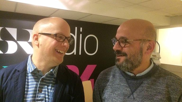 Kenneth Nilsson, S och Murad Artin, V i Örebro kommun. Foto: Marie Hansson/Sveriges Radio.