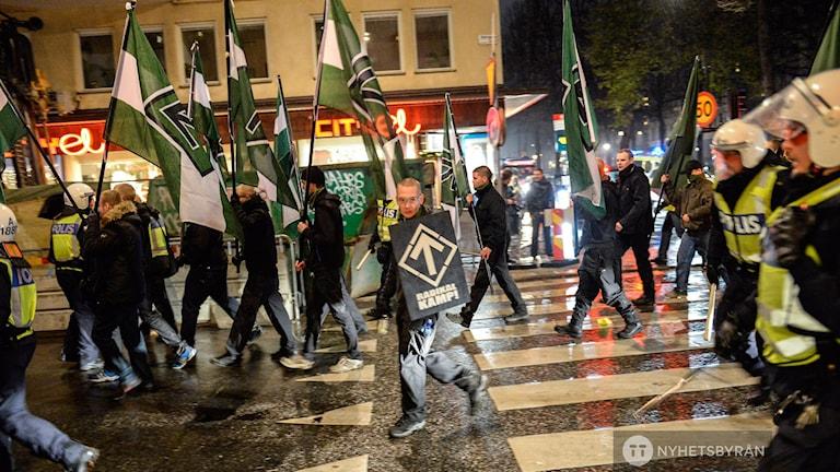 venska Motståndsrörelsen, demonstrationståg