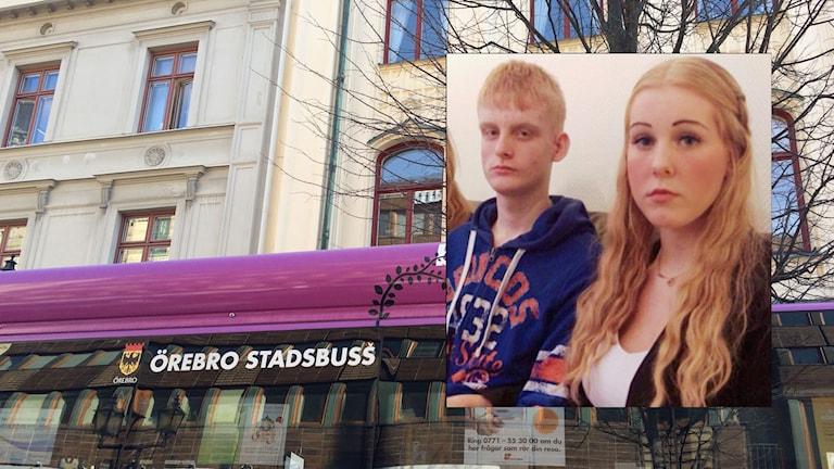 Sebastian Bergström här tillsammans med syster Veronica Bergström.
