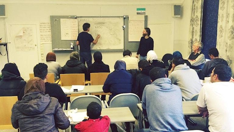 Svenska, undervisning, asylsökande, Bredsjö