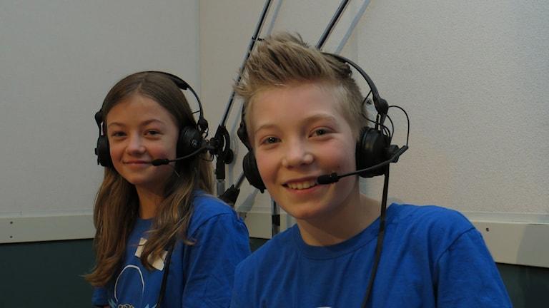 Matilda Kåks och Emil Adolfsson tävlar för Borns friskola.