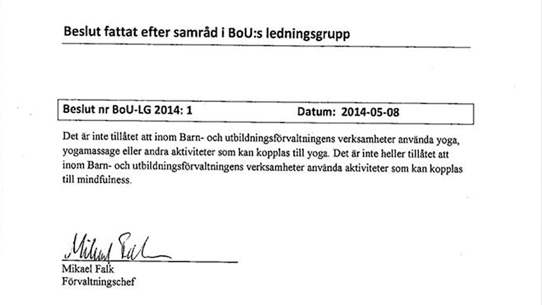 Dokument yogaförbud, Askersund