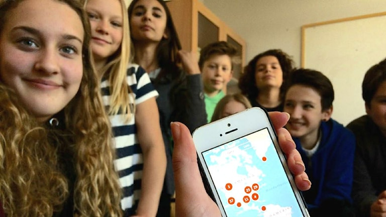 Periscope mobilförbud Olaus Petri app telefon barn