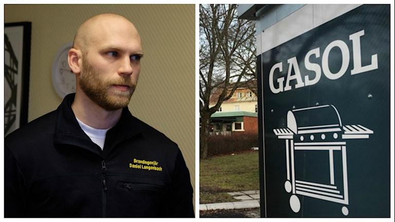 Daniel Langenbach från Nerikes brandkår berättar att bensinmacken nu uppfyller alla krav som behövs.