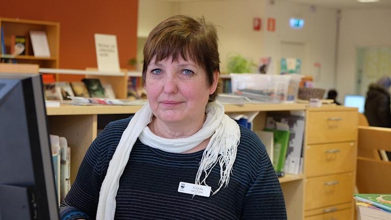 Katarina Möller, bibliotekarie i Vivalla.
