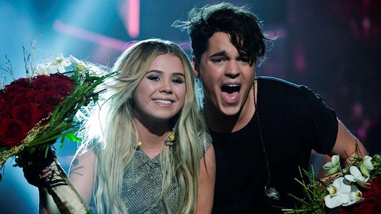 Lisa Ajax och Oscar Zia är vidare till final i Melodifestivalen efter dagens deltävling i Norrköping.