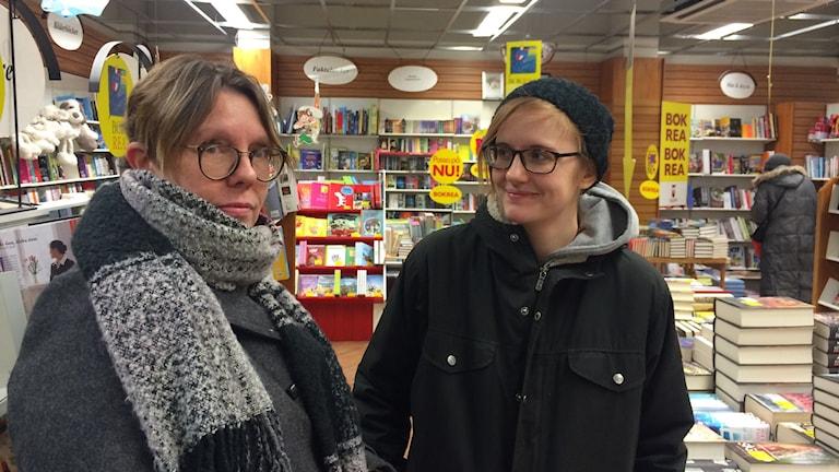 Bokrean i Kumla med Rosie och Beatrice Eriksson