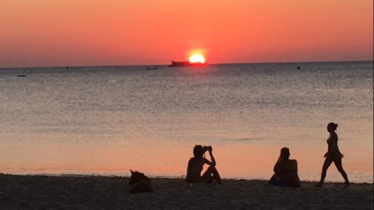 Long Beach auf Kho Lanta in Thailand (Foto: Carina Galanou Ipsonius/Sveriges Radio)