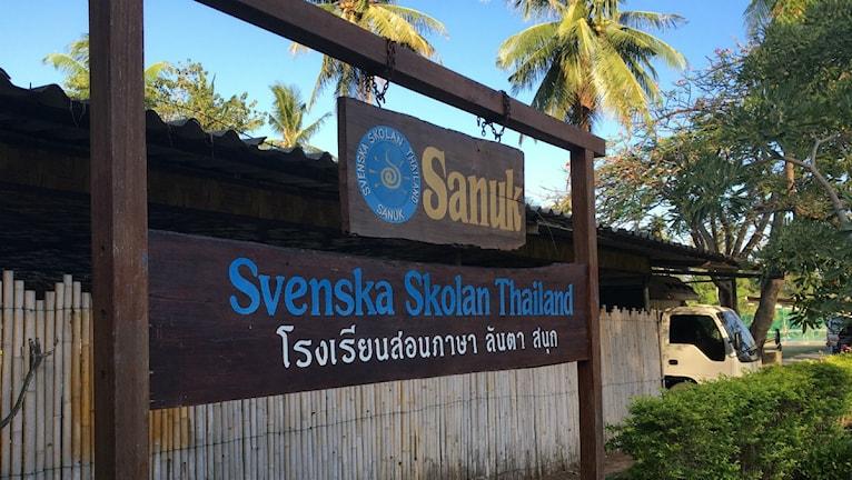 Svenska skolan Sanuk på Kho Lanta i Thailand.