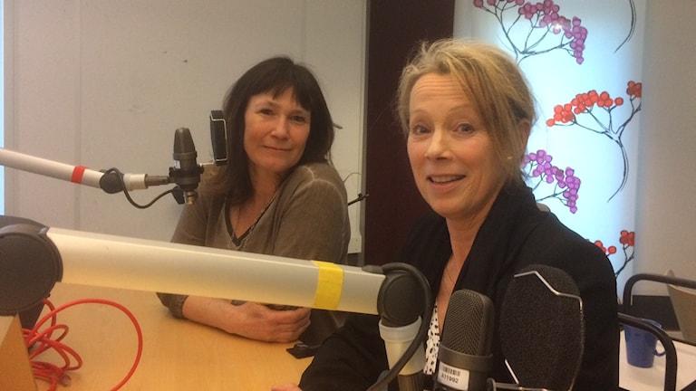 Karolina Wallström, L och Hannah Ljung, C i Örebro kommun. Foto: Marie Hansson/Sveriges Radio.