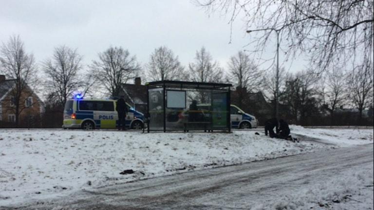 Polisinsats Markbacken.