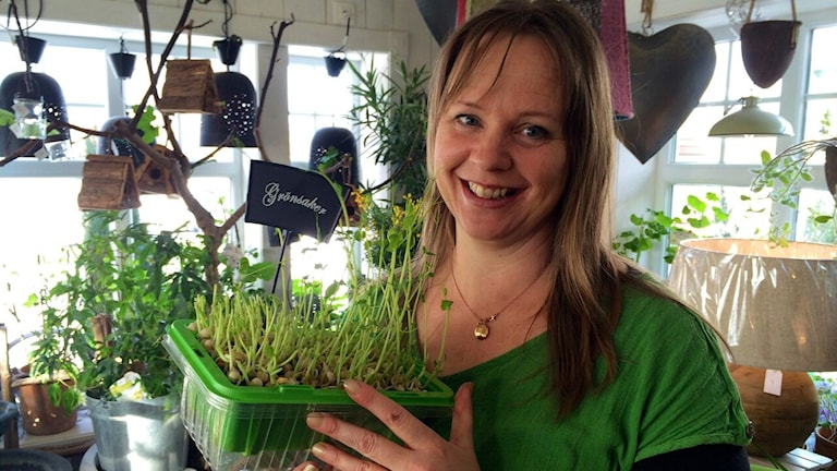 Pernilla Nilsson, trädgårdsmästare på Tant Grön i Vintrosa