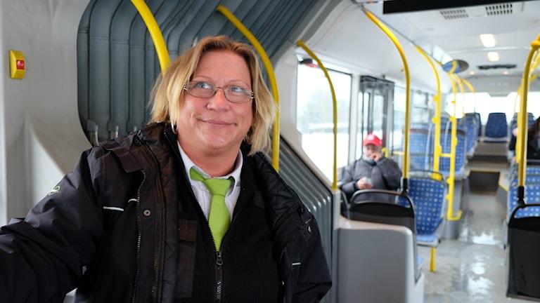 Mia Karlsson, busschaufför i Örebro.