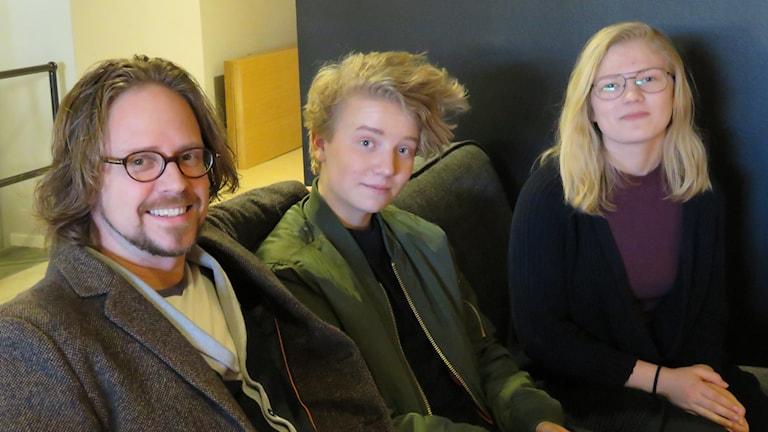 Staffan Blixt, Andreas Palm och Paulina Svanbäck