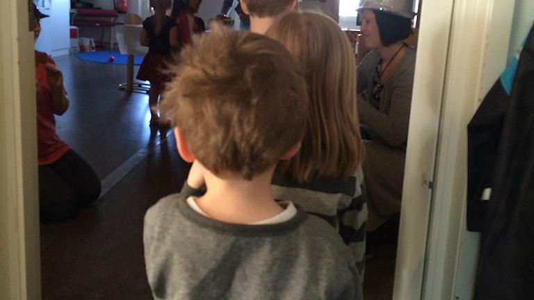 Barn på Måsens förskola, i Örebro.
