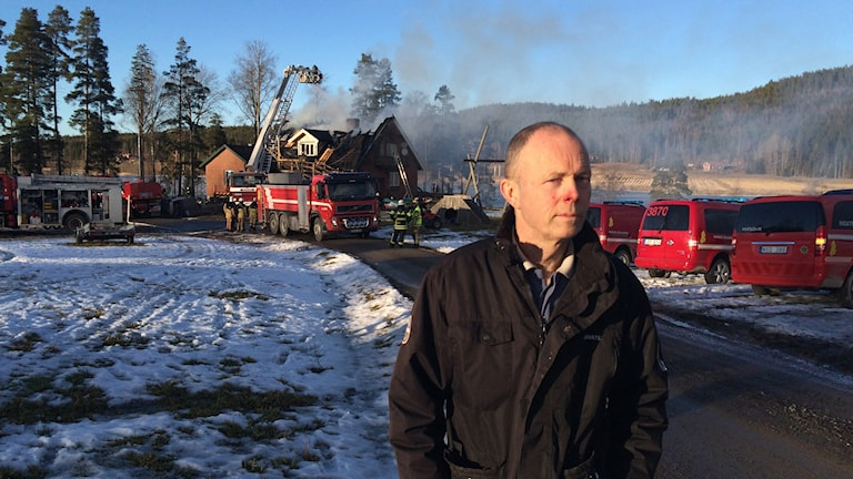 Stefan Smårs fick se sitt hus brinna ner