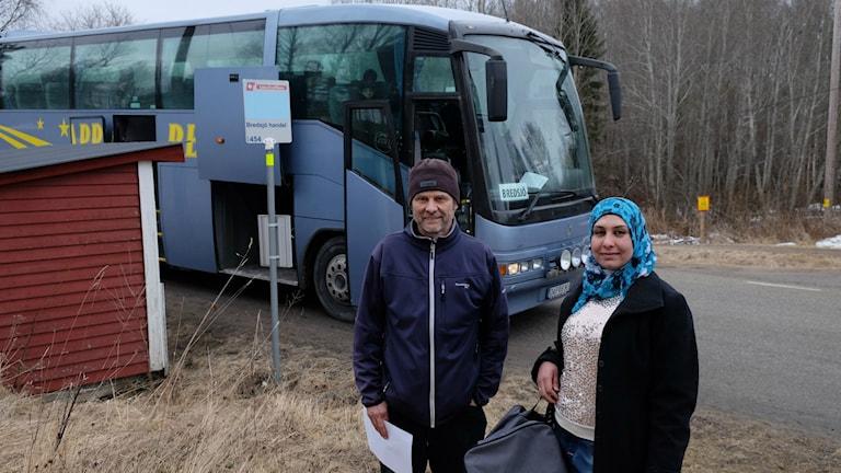 Bredsjö, asylboende, Anders Sandberg, boendevärd och Iman Al Barak boende
