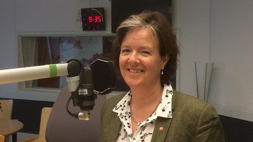 Carin Jämtin, partisekreterare (S). Foto: Marie Hansson/Sveriges Radio.