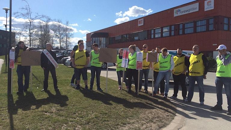 Målareförbundet manifesterar strejk Örebro