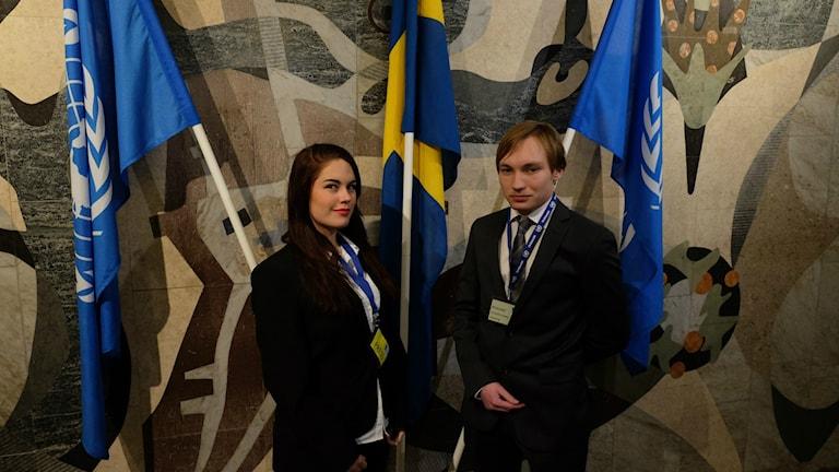 Mikaela Kerber och Christoffer Solberg, Karolinska gymnasiet.