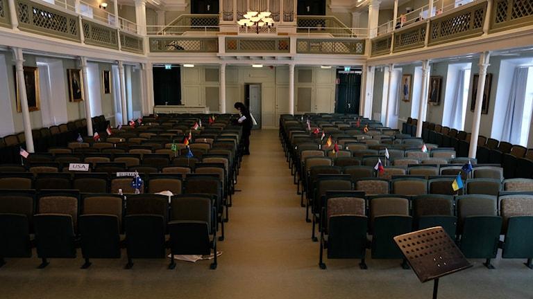 Sal i Karolinska gymnasiet Örebro.
