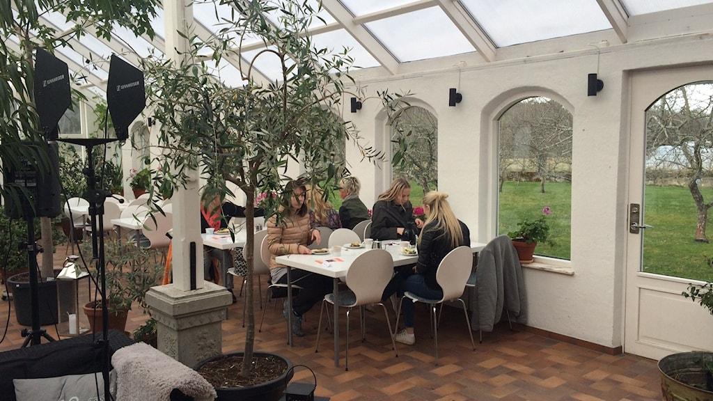 Rosengårds orangeri sänder förmiddagsprogrammet ifrån idag.