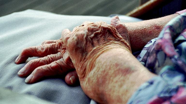spdae6e8 händer äldrevård äldreboende pensionär hemtjänst