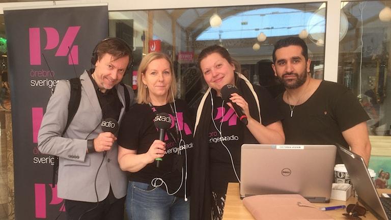 Jonas Edlund, Maria Rinaldo, Madde Klippel och Beston Kalefa
