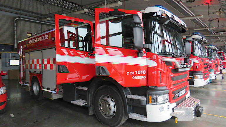 Brandbilar Nerikes Brandkår räddningstjänsten