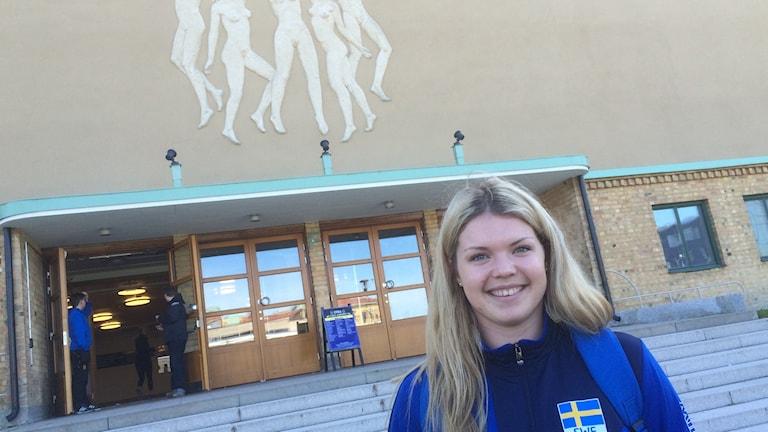 Sofie Sjöberg spelar landskamp i Örebro.